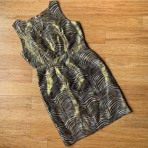 Tory Burch metallic shimmer evening dress